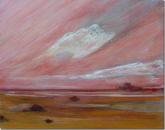 horizonte en rosa