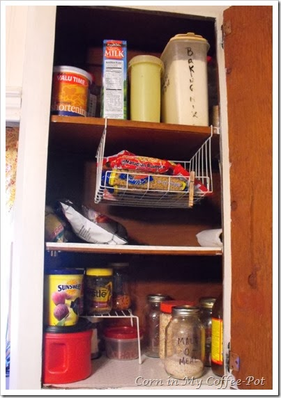 Finding Pantry Space left cupboard