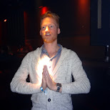 making a little prayer at tresor in Berlin, Berlin, Germany