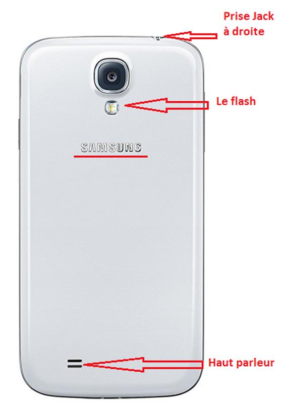 La face arrière du Samsung Galaxy S4 original