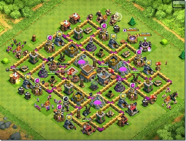 Clash of Clans Defensive Village Layout