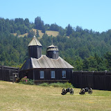 Chapel & canons at Fort Ross