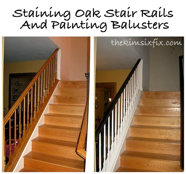 Updating oak stair rails
