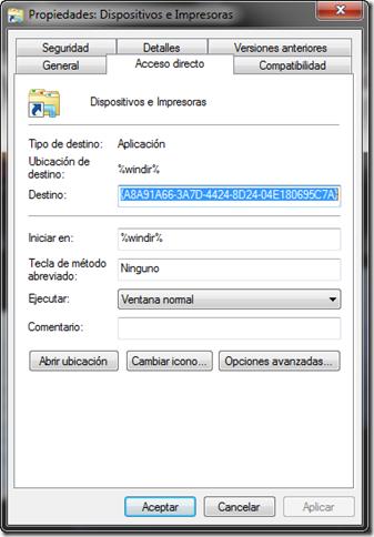 crear acceso directo dispositivos e impresoras 05