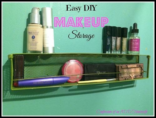 Easy DIY Makeup Storage