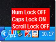 Notifica desktop per sapere se sono attivi i tasti Caps Lock, Bloc Num e Bloc Scorr