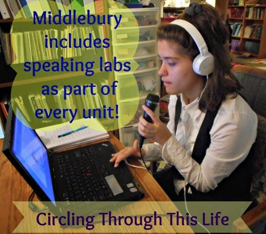 Speaking Labs help students learn to correctly pronounce the lanuage ~ Chek out Middlebury HS French review at Circling Through This Life