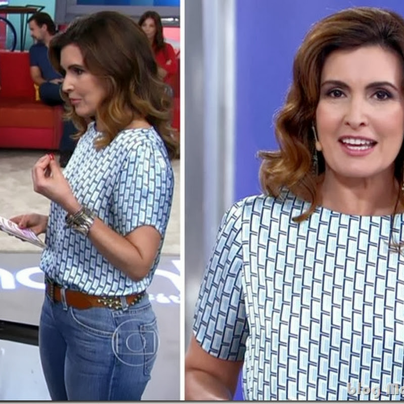 Look da Fátima Bernardes no Encontro dia 4 de novembro
