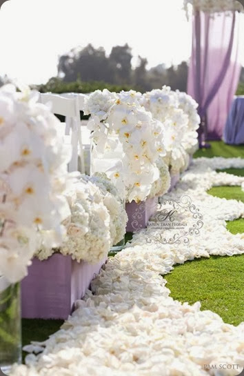 aisle romantic-white-wedding-ceremony  karen tran