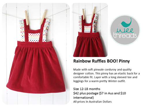 Rainbow pinny