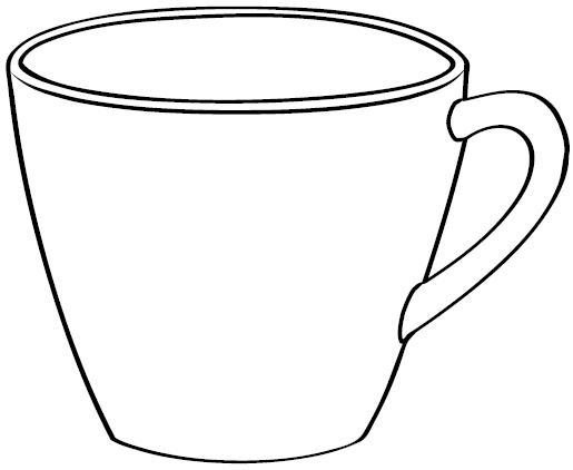 Dibujos de taza para pintar for Como dibujar una cocina