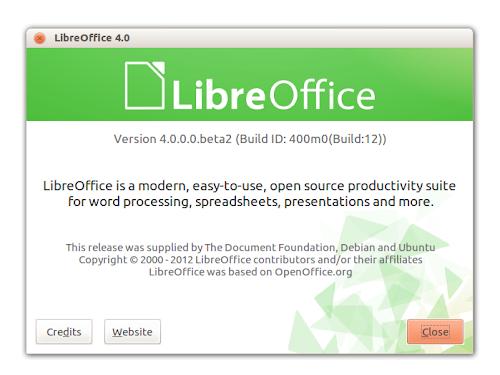 LibreOffice 4.0 Beta 2 su Ubuntu