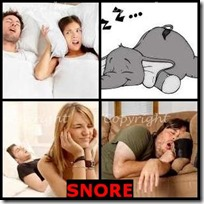 SNORE- 4 Pics 1 Word Answers 3 Letters
