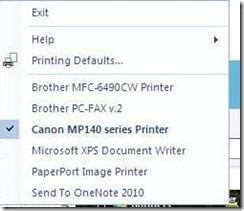 Mengganti Default Printer dari System Tray dengan Menggunakan WPrinter