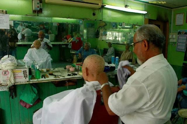 Aktiviti TG Nik Aziz mencukur rambut