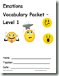 Emotions or Feelings - Differentiated Vocabulary Packet - Raki's Rad Resources