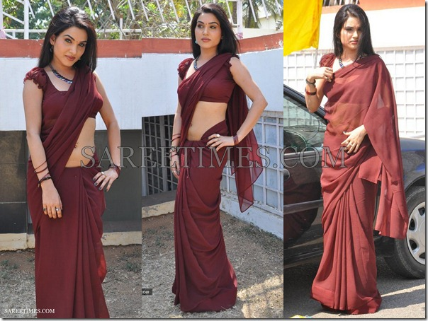Kavya_Singh_Brown_Saree