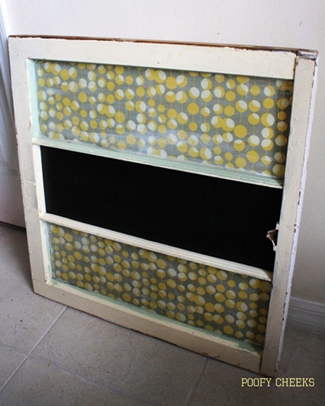 Vintage Window Redo - Chalkboard Window
