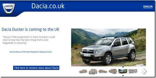 Dacia naar de UK 2012