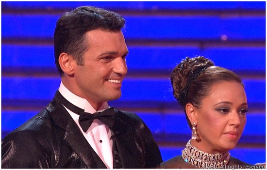 Tony Dovolani and Leah Remini.