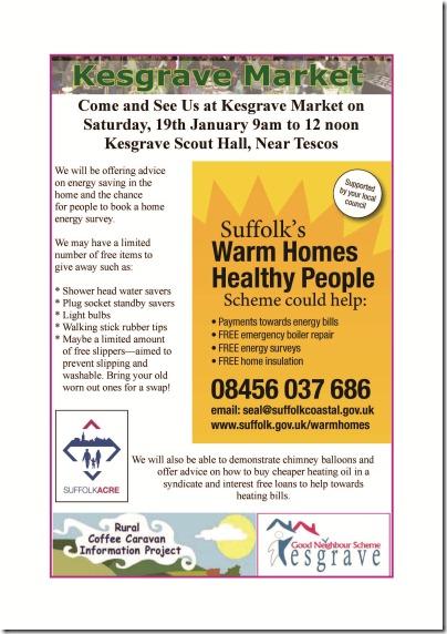 Warm Homes Visit To Kesgrave Market Final