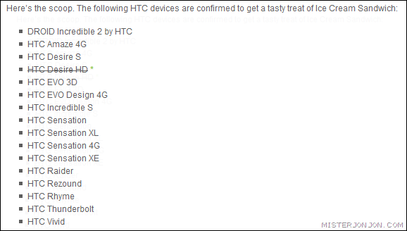 HTC Desire HD Android 4.0 Ice Cream Sandwich Update