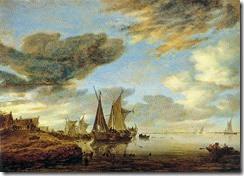 800px-Salomon_van_Ruysdael_-_Sailing_Boats_near_a_Village_-_WGA20572