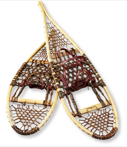 In honor of its 100th anniversary, L.L. Bean is offering select anniversary edition products.  These snowshoes are great.