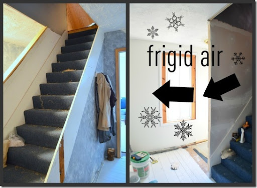 closet6-1 & His and Hers: A Drafty Stairwell Solution