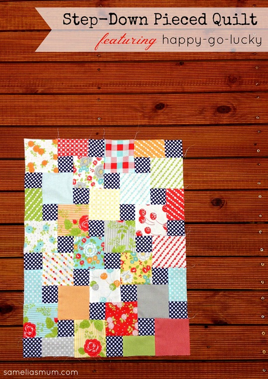 A pattern by Sarah Fielke on Craftsy. The fabric is happy-go-lucky by Bonnie & Camille