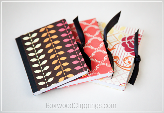 Mini Mod Podge Notebooks by Boxwood Clippings
