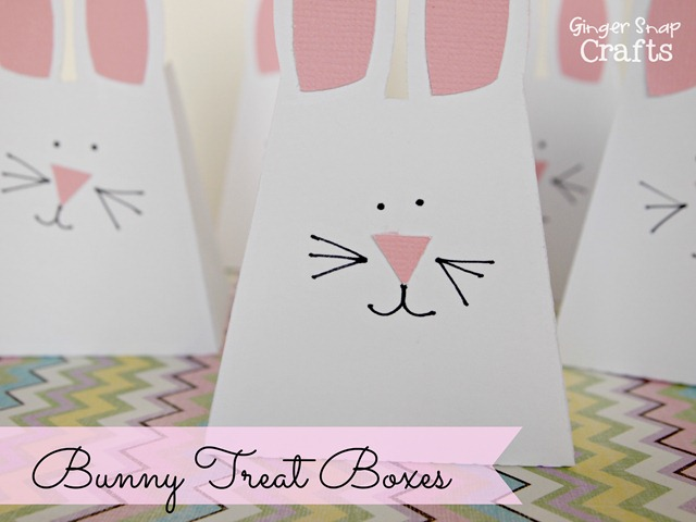 bunny treat boxes made with #Silhouette