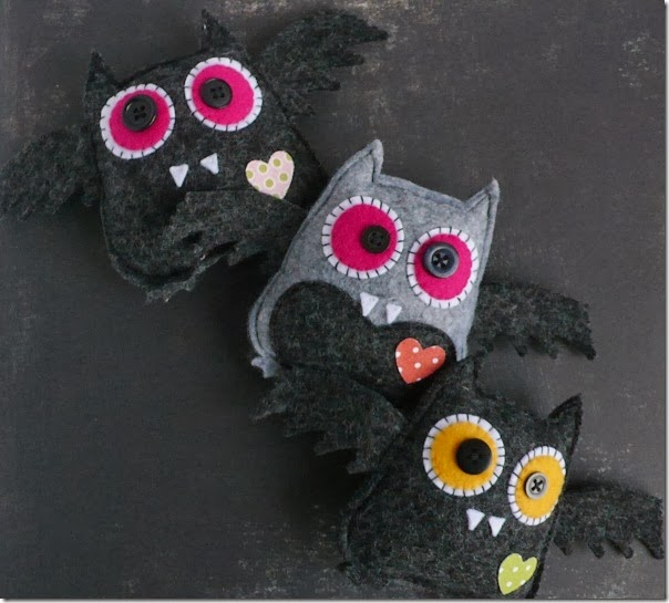 cafe creativo - Anna Drai - sizzix big shot - owl bat halloween felt (4)