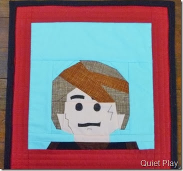 Lego Anakin paper pieced block
