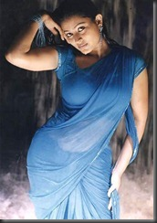 Sneha in blue _saree