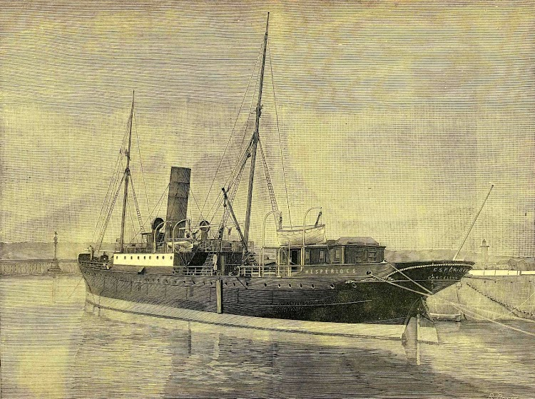 Grabado del HESPERIDES. De la REVISTA DE NAVEGACION Y COMERCIO. Año 1892.jpg