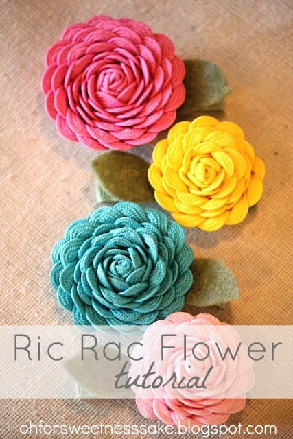 Ric Rac Flower Tutorial