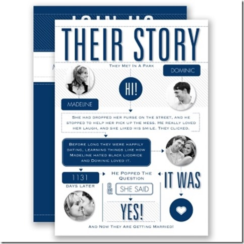 Davids Bridal Our Story Invite