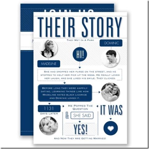 Davids Bridal Our Story Invite