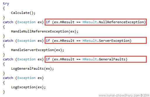 Whats new in CSharp 6.0 - Exception Filters