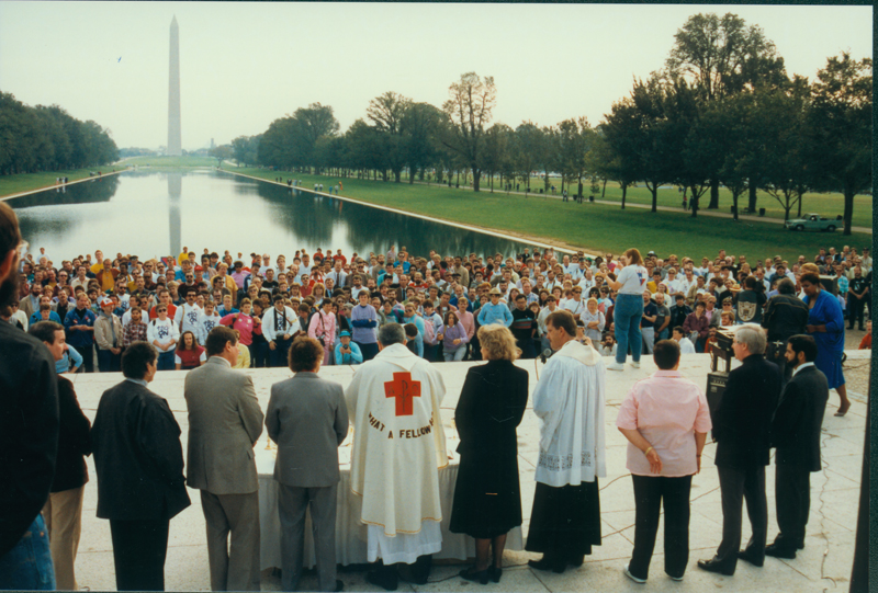 Speech of unknown church leader at the March on Washington. October 11, 1987.