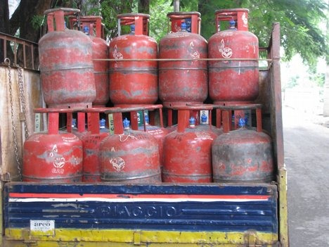 Cooking gas connection
