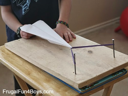 Paper Airplane Launcher from Frugal Fun 4 Boys