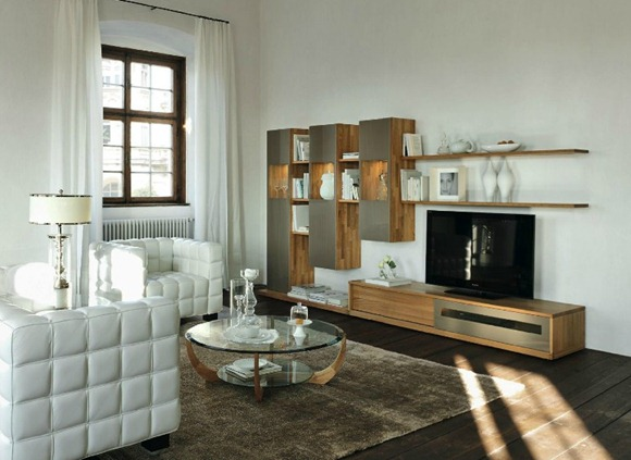 Muebles de madera para ambientes modernos