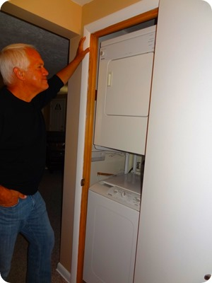 paul looking at old closet