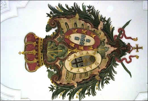 Gloria Ishizaka - museu de são roque - brasão da santa casa de miseridordia