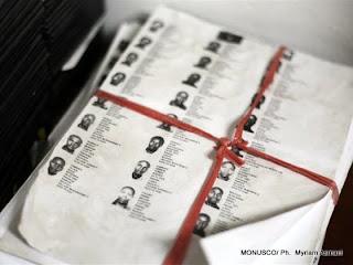 Des listes des candidats à afficher aux législatives. (Goma, RDC)