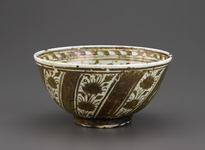 Bowl | Origin:  Iran | Period: 2nd half of the 17th century  Safavid period | Details:  Not Available | Type: Stone-paste painted with lustre | Size: H: 9.3  W: 18.4  cm | Museum Code: F1903.7 | Photograph and description taken from Freer and the Sackler (Smithsonian) Museums.