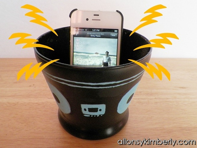 DIY Amplifier for Your iPhone/iPod | allonsykimberly.com