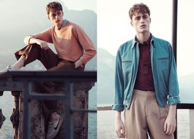 Bastiaan Van Gaalen by Carlotta Manaigo for L'Officiel Hommes Italia, S/S 2012.